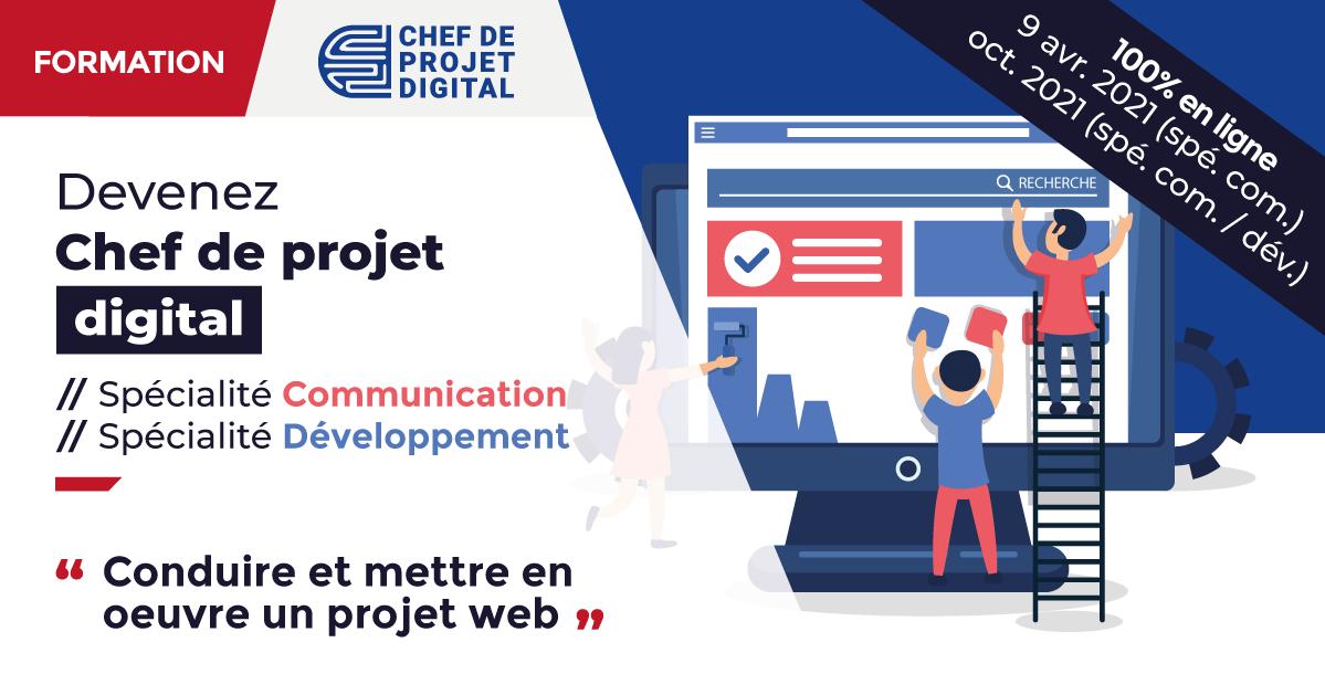 Formation Chef de projet digital spécialité Communication et Développement